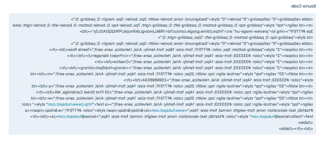 Email Signature Source Code